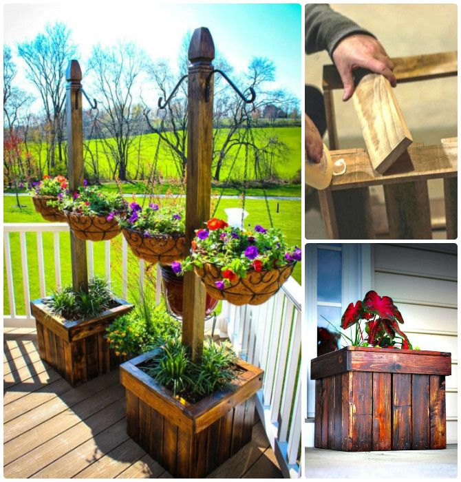 DIY Wood Pallet Hanging Planter Box-20 DIY Porch Decorating Ideas Projects #Gardening