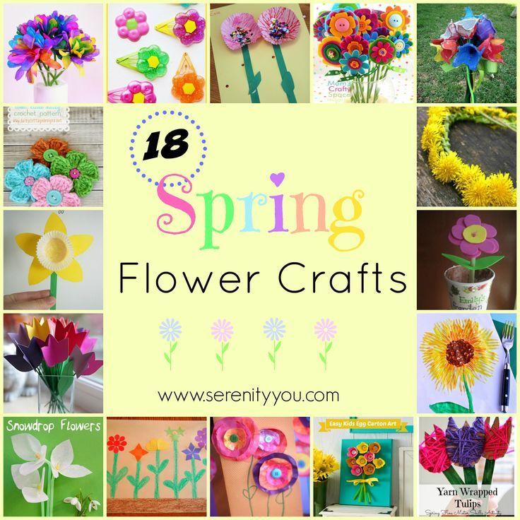 18 Spring Flower Crafts #kids #crafts #spring on @SerenityYou