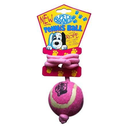 Bola de Tênis com Corda Rosa Duki - MeuAmigoPet.com.br #petshop #cachorro #cão #meuamigopet
