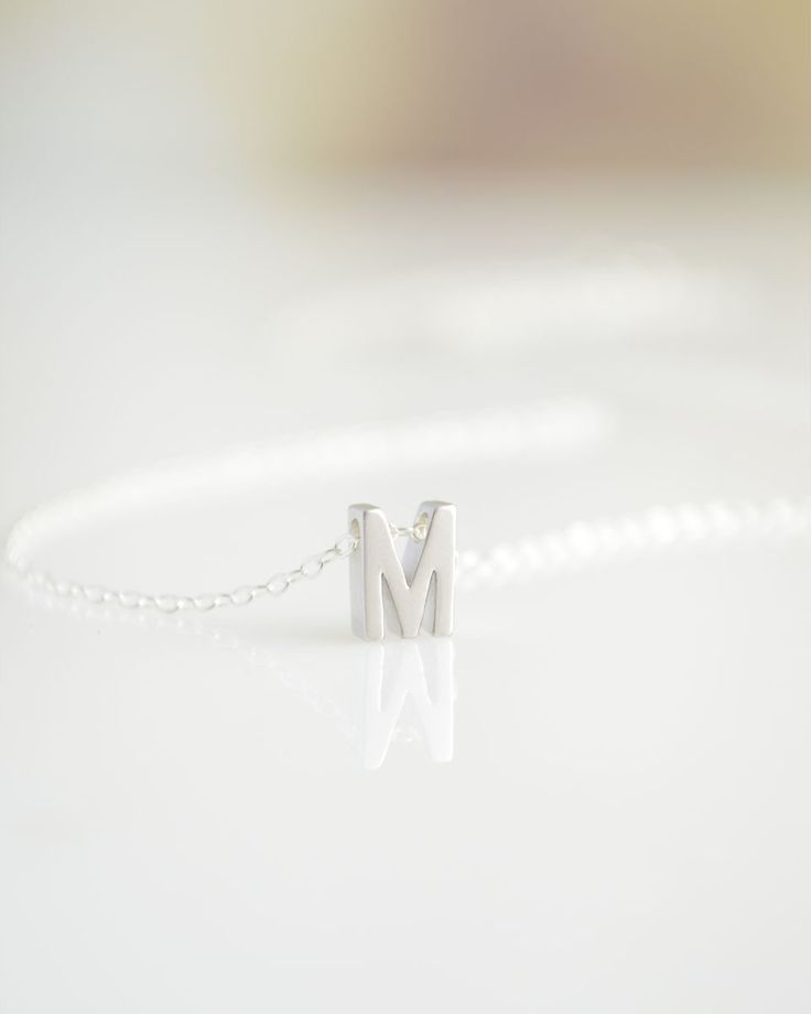 Capital Letter Necklace - Silver, Gold, or Rose Gold by Olive Yew