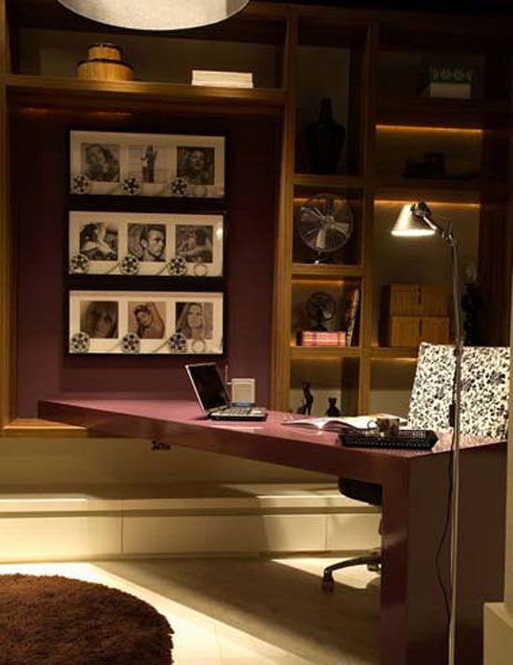 Home Offices: galeria de fotos com 154 ambientes bonitos e funcionais - Casa
