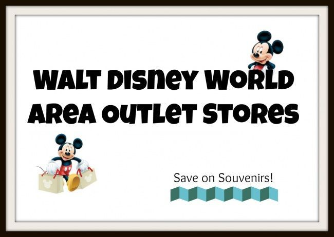 Disney Outlet Stores in the Orlando Area  Great way to save on souvenirs!