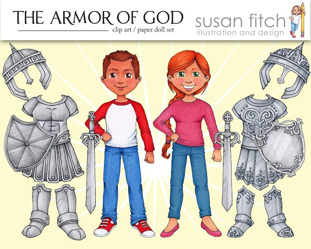 susan fitch design: Putting on the Armor of God.
