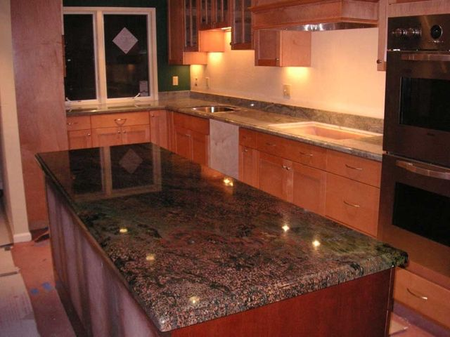 Kangaroo Granite Countertops | Vibrant Red Granite Kitchen ...