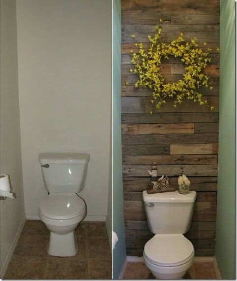 Gives a small bathroom character-love the wood!