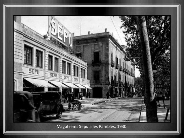 Magatzems Sepu a les Rambles, 1930