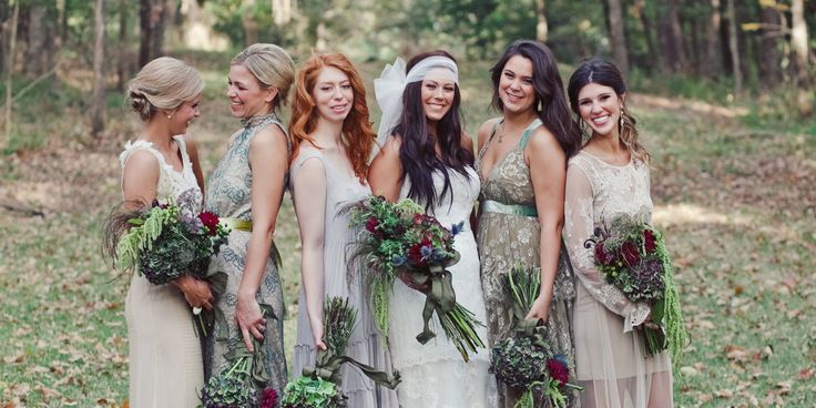 18 Adorable Photos That Prove the Best Bridesmaids Dresses Are Mismatched -Cosmopolitan.com
