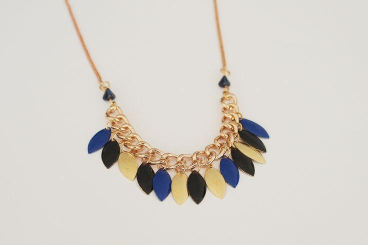 Bijoux Émaillé - Collier Apache bleu marine #Boho #apache #jewellery