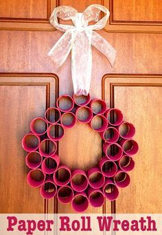A fun homemade Christmas wreath that the whole family can help make!
