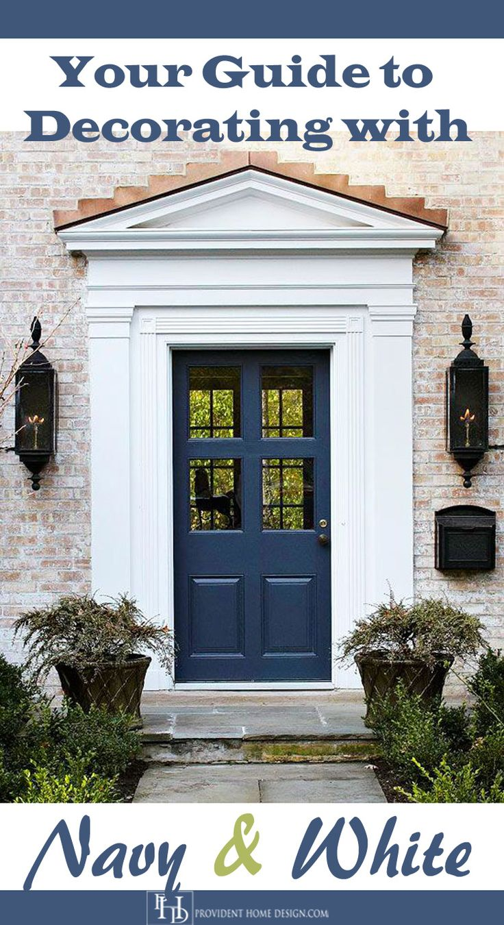 Dark blue front doors - Decorating With Navy And White Blue Front Doorsthe