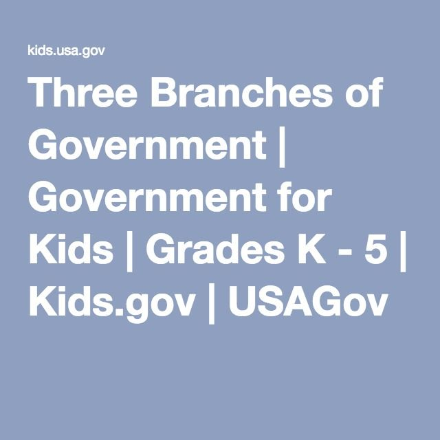 Legislative, Executive and Judicial branches of government.