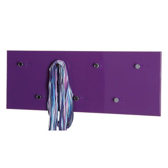 Hi-Gloss Purple Wall Mounted Coat Rack, 42890