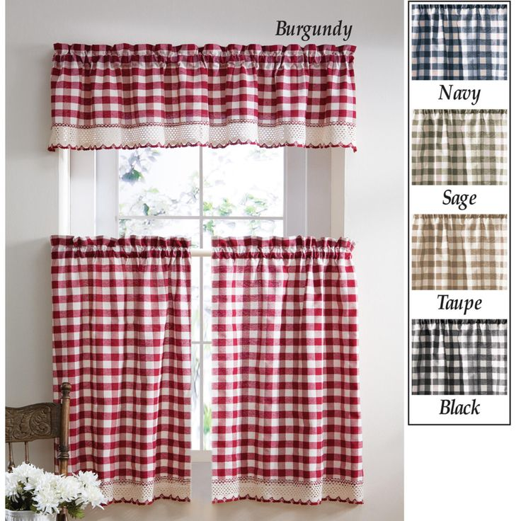 Collections Etc Buffalo Checkered Primitive Country Curtains Home Home Decor Window Treatments