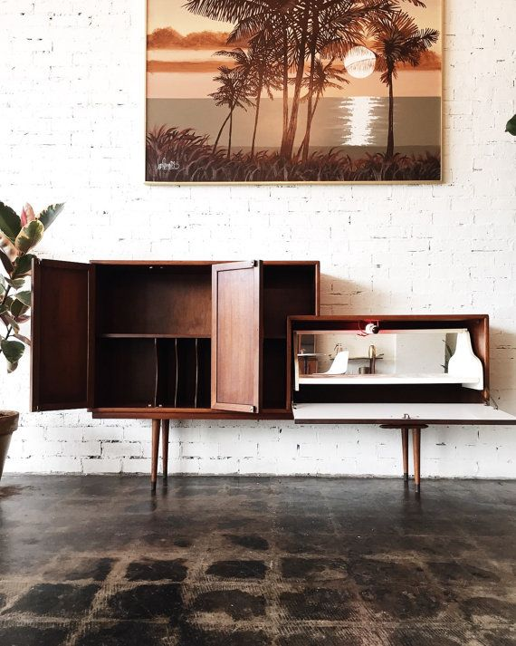 Mid Century Credenza Etsy listing at https://www.etsy.com/listing/253777682/mid-century-credenza-and-bar