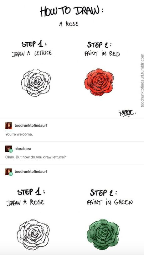 How to draw: a rose | Funny | Funny memes, Funny, Tumblr funny