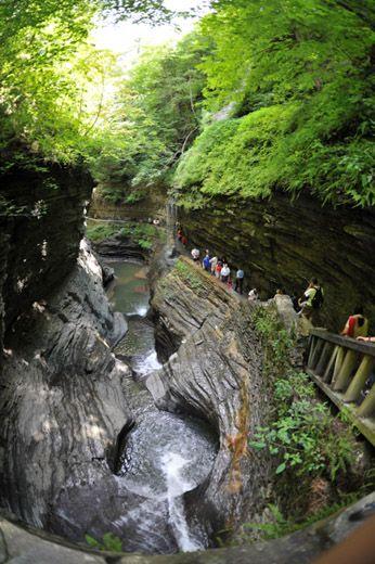Watkins Glen State Park gorge trail, Finger Lakes Region, NY | ᖴåʟʟi̫иg ᗯã̰ʈɛʀེ | Pinterest | Finger, Lakes and Park