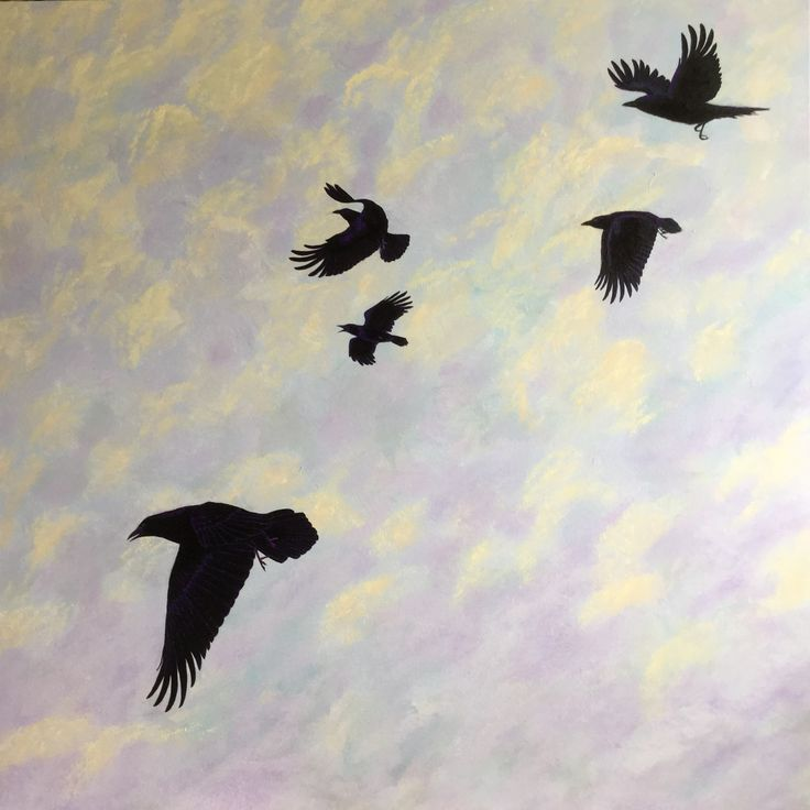 Flock of Crows Acrylic on canvas