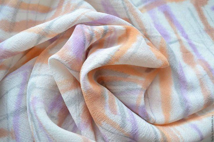 """Купить Платок """"Изломы"""", батик, шелк-креп, недорого - красивый платок, шейный платок"""