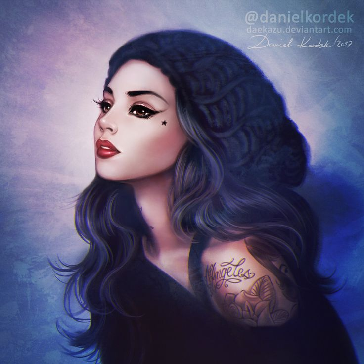 """Inspiration: Kat Von D. Original photo remind me also Nanalew from famous remake of """"Sail"""" video. Kate von D was my fav person from Miami Ink :)"""