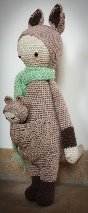 KIRA the kangaroo made by Claudia Sch. / crochet pattern by lalylala