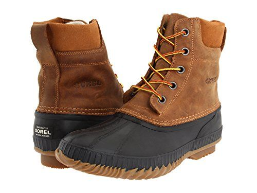 Sorel Men's Cheyanne Lace Rain Boot (10 D(M) US, Chipmunk-Black)