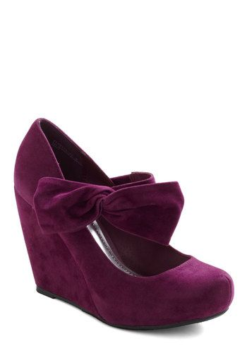 Rules of the Bowed Wedge in Plum, #ModCloth Purple also makes me instantly biased.
