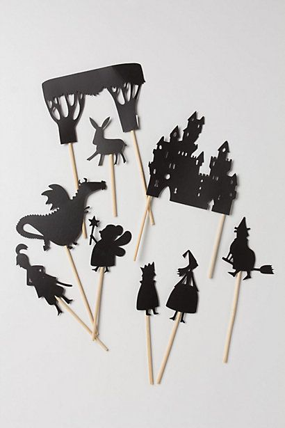 What a cool gift! Bedtime Story Shadow Puppets