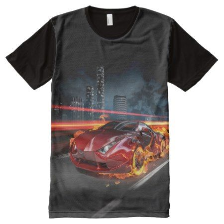Hot Car Fantasy All-Over Print T-Shirt - tap, personalize, buy right now!