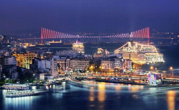 Night Fall at Istanbul <3