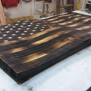 3D Rustic Wooden Flag