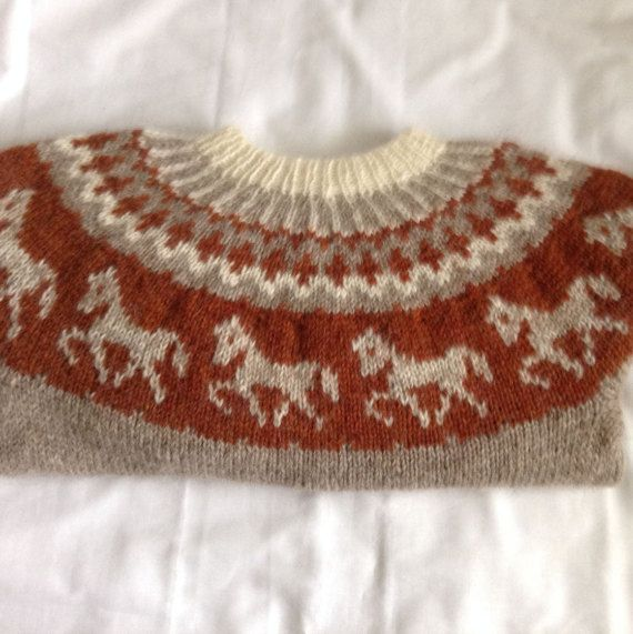 Icelandic sweater Lopapeysa jumper Lopapeysa pullover by Klettur