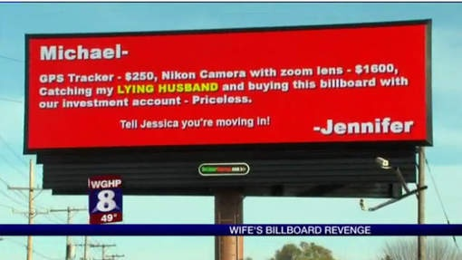Wife's billboard Revenge