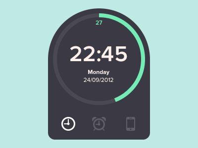 Dribbble - Clock Widget by Dimas