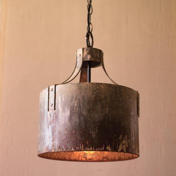 metal drum pendant chandelier