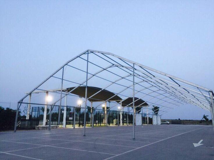 Montaje de carpa poligonal para feria de Corral de Almaguer #eventos #ferias