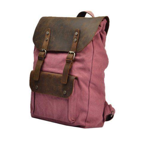 Neu Damen Vintage Canvas Leder Rucksack für Outdoor Sports Casul VINTAGE Unitasche Studententasche Schultasche Reisetasche - ideal für Uni, ...