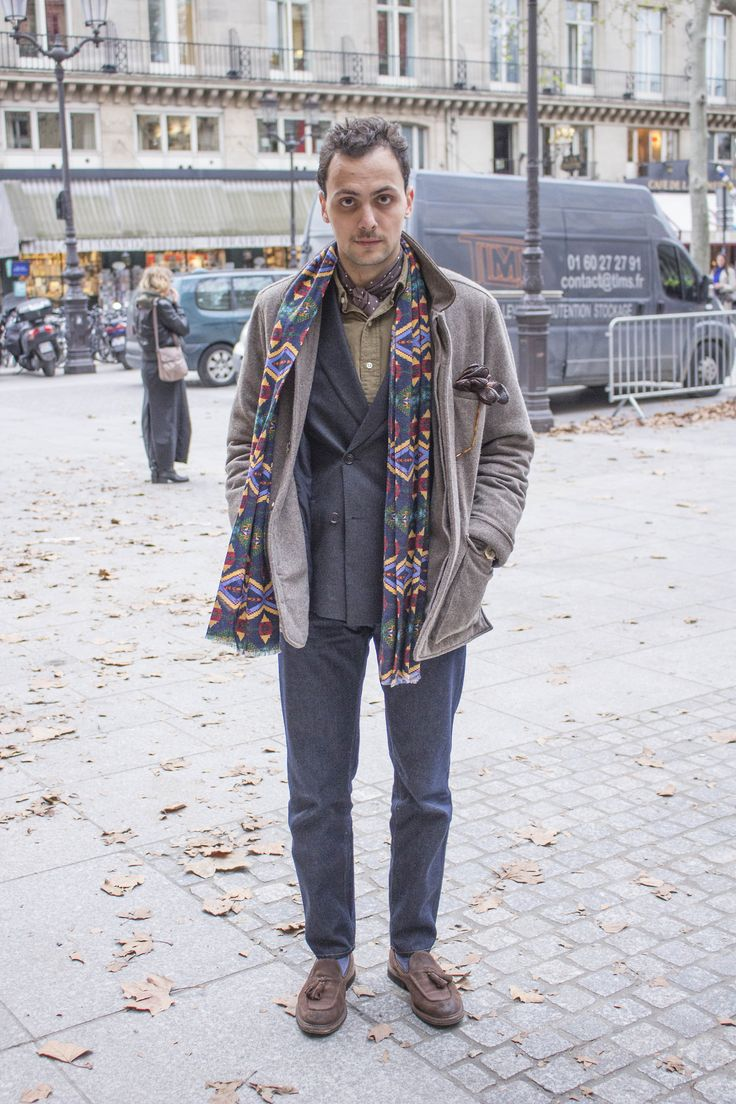 gentlemanchemistry: Casual Friday - ph. Scienza del Gentiluomo - coat (Loro Piana storm system) & scarf: Breuer - foulard: Zegna - shirt: Polo Ralph Lauren - double breasted jacket: Butch Tailors (V. Barberis Super 120's dark grey flannel) - jean: American Apparel - eyewear: Oliver Peoples Eyewear - gloves: Muriel - socks: BoggiMilano - shoes: Fratelli Rossetti