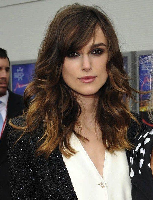 Kiera Knightley | 31 cortes de cabello de celebridades que podrían tentarte a cortarte el flequillo.