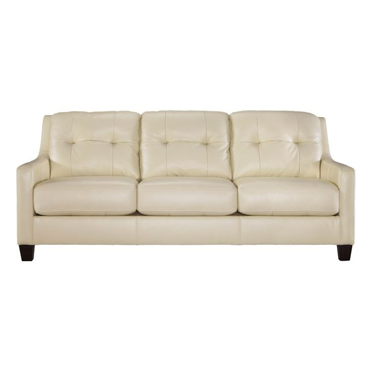 Cream Leather Sofas Divani Casa Suzanne Clic