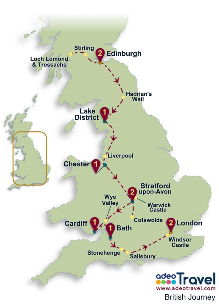 Driving Map Of England And Wales.Britain Self Drive Tour Map British Journey Places I Want To Go