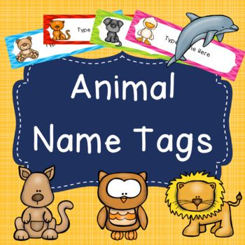 This pack contains 8 different animal themed labels that come in 6 different colours (48 name tags in total). These name tags are editable so you can type the names straight onto them. Because these name tags are created in PowerPoint you can print them as the size they are or print 2 slides per page.The animals featured on these name tags are: bear, cat, dog, duck, dolphin, kangaroo, lion, owl.