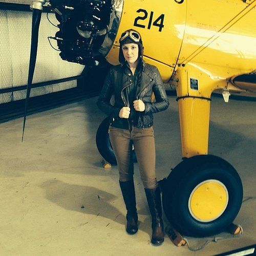 The first female pilot to fly across the Atlantic Ocean. Need we say more? Source: Instagram user betharooo