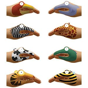 Temporary hand tattoos....  puppets....   Saw these in family circle magazine... and know my kids would LOVE them.  I wish they had different sizes... some made for tiny hands!!!  I may just get some... and I will wear all of them if I have to!!! lol.... sooo cute!  $6