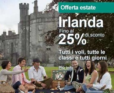 Aer Lingus: in occasione della Festa di San Patrizio voli scontati fino al 25%