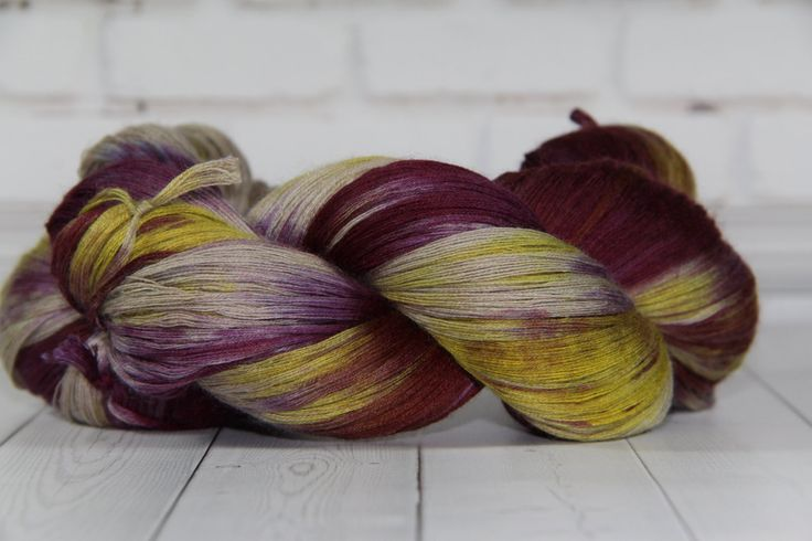 hand dyed yarn,  cashmere/ silk,325 meters/100 grams/ Princess  / by PositiveCreative on Etsy