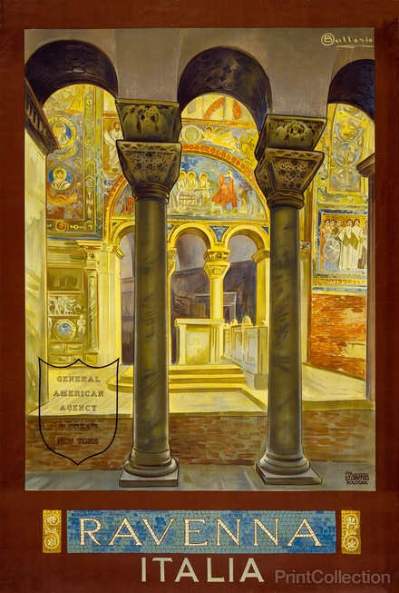 Never been there, but I want to now: Ravenna, Italia Travel Poster