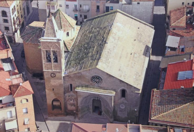 Vista aèria església Santa Maria