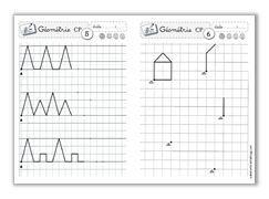 Fichiers géométrie CP et CE1, écriture CP et CE1