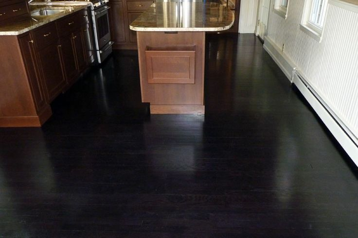 Black Dye And Ebony Stain On Oak This Kitchen Floor Is A