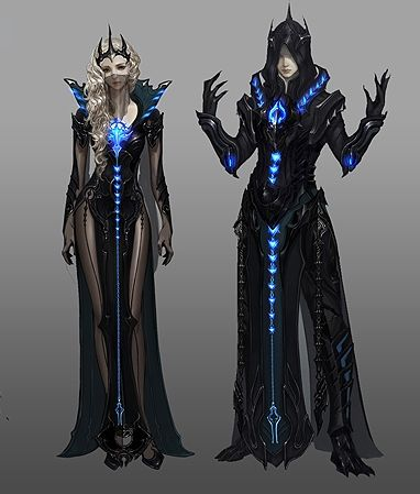 Aion / Fantasy electric blue male and female